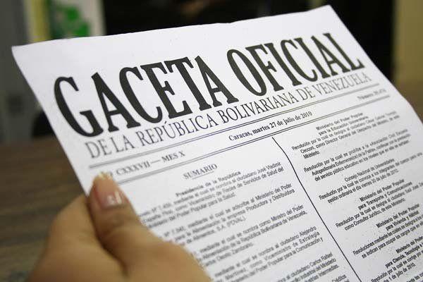 Portada de la Gaceta Oficial N° 41.112 - http://wp.me/p7GFvM-DXY