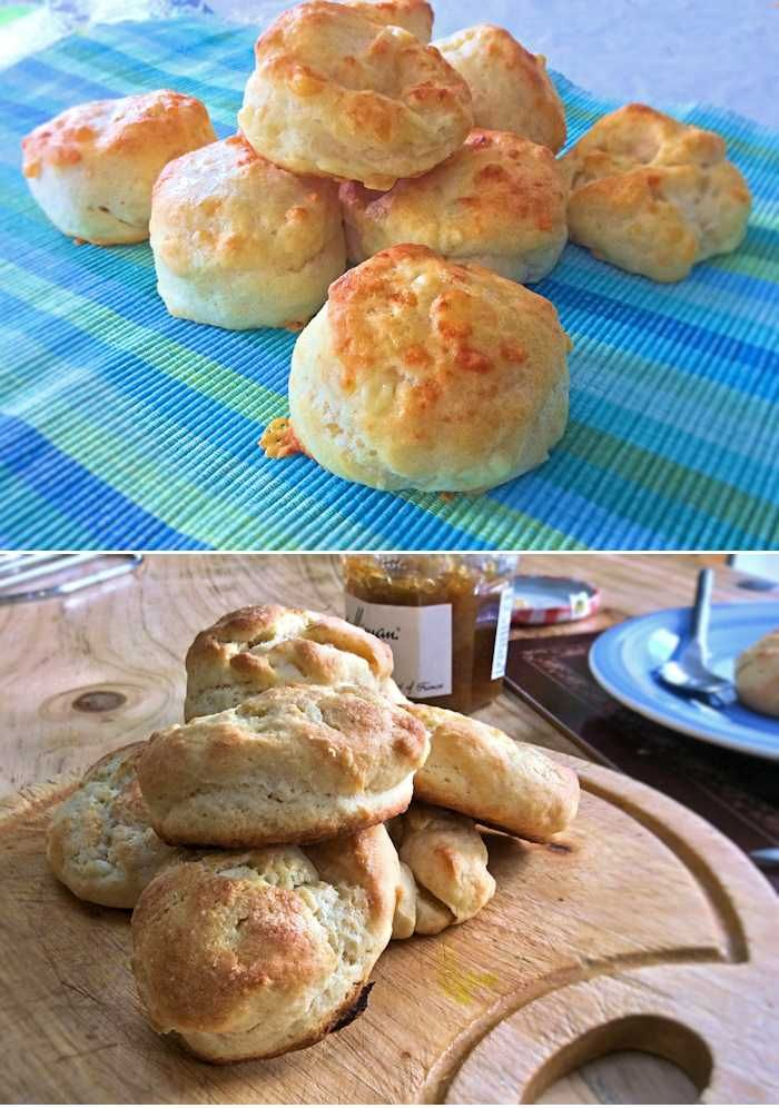 Plain scones, or biscuits as they are known in America.