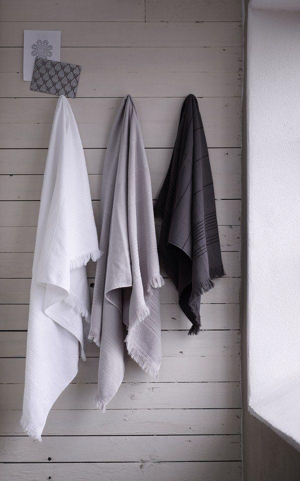 Tina K towels on cladding