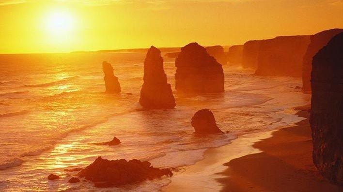 Stunning Sunset in Ocean Road Australia