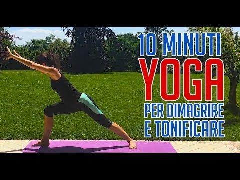 10 min yoga per dimagrire e tonificare - YouTube