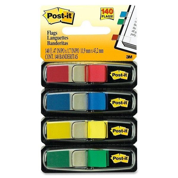 """Post-it 3M 683-4 Small Size Flags (eceran) - Harga Paling Murah Kertas Memo Tempel Unik Berbagai Ukuran  Mencari informasi dengan lebih cepat dengan Post-it® Flag.  Pembatas halaman berbahan film yang dapat di tulisi, lebih tahan lama.     (ukuran 0.5"""" X 1.7"""" 35 sheets/color, 4 colors/pack)  - Harga per pack  http://tigaem.com/post-it/317-post-it-3m-683-4-small-size-flags-eceran-harga-paling-murah-kertas-memo-tempel-unik-berbagai-ukuran.html  #postit #flags #memo #notes #3M"""