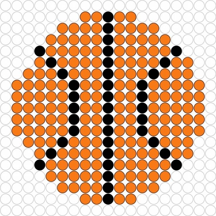 Basketball hama perler beads
