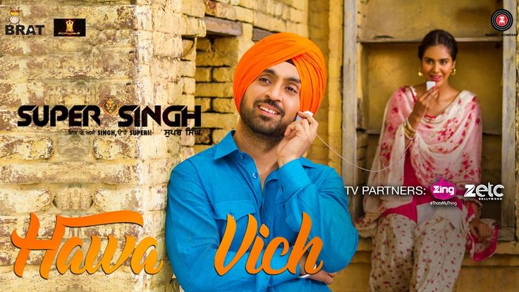 Hawa Vich Lyrics from the album Punjabi Songs, sung by Diljit Dosanjh, Sunidhi Chauhan.
