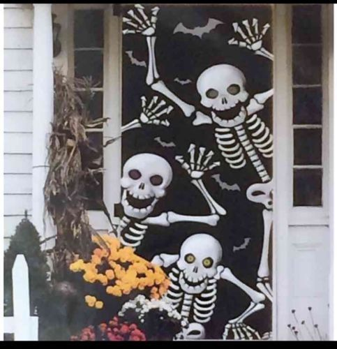 """Halloween Scary Skeleton Door Cover or Wall Decoration 30"""" X 72"""" #Unbranded"""