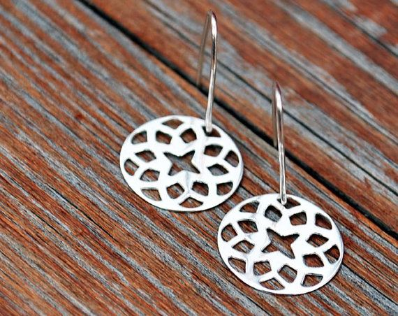 NEW  delicate pair of earrings with Roset by euforioHandmade