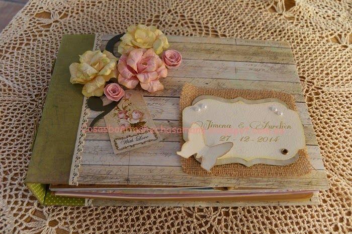 Libro de firmas para boda de scrapbooking