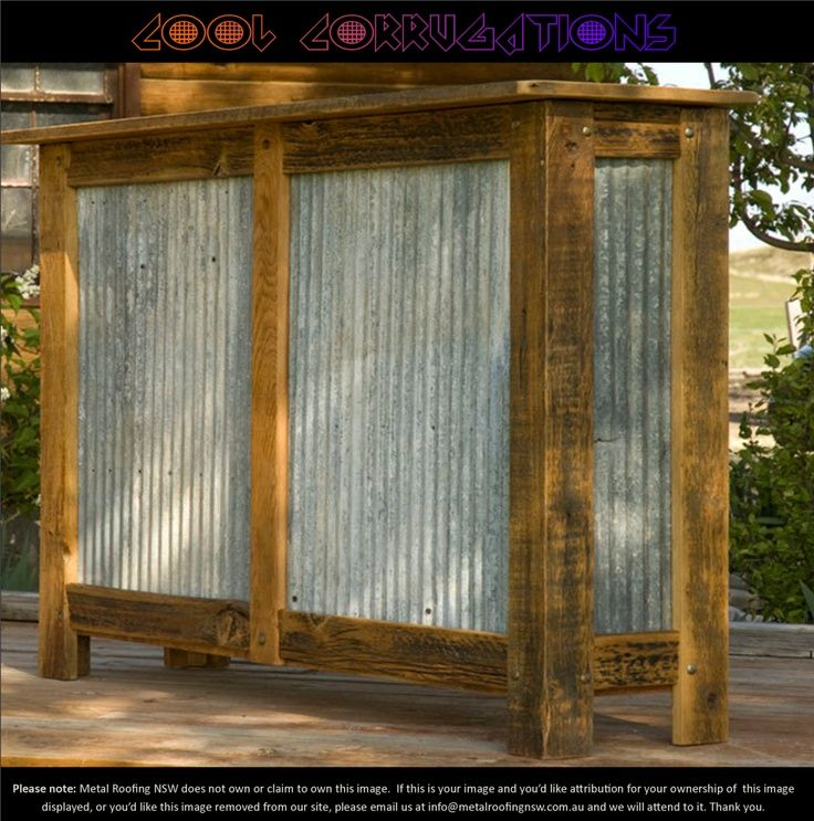 Timber and corrugated iron | Outdoor bar, Corrugated metal ... on Backyard Bar With Roof id=22654