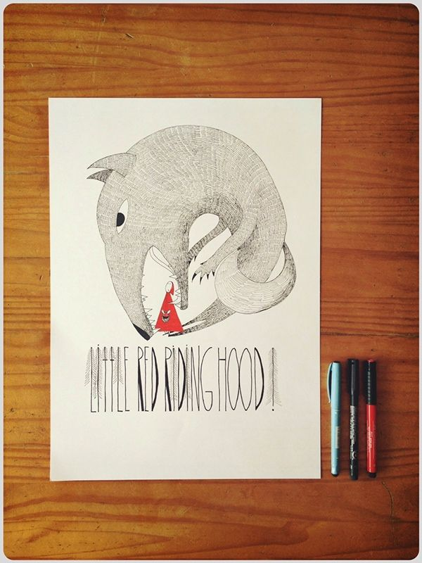Little Red Riding Hood by Inka Vybohova, via Behance
