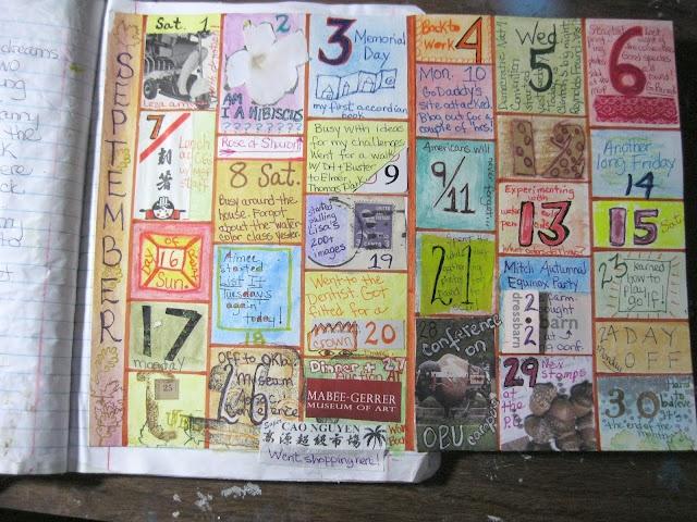 Art Journal Calendar Tutorial : Best images about art journals calendars planners on