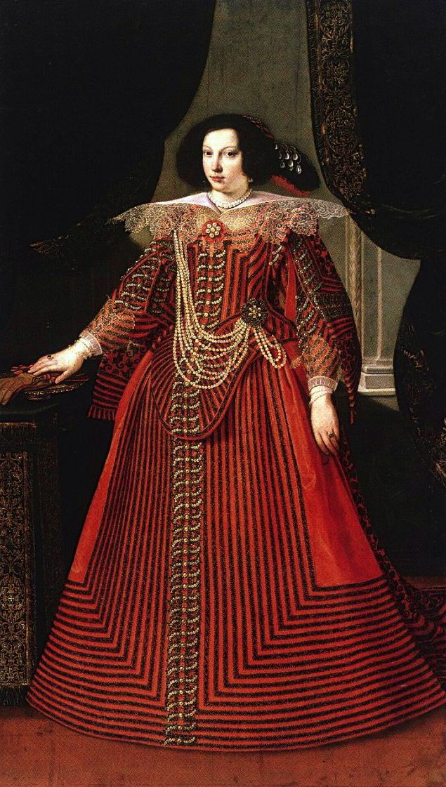 Matteo Loves, Portrait of Maria Caterina Farnese, 17th century. She was the Duchess of Modena as the first wife of Francesco I d'Este, Duke of Modena. Tenure 11 January 1631 – 25 July 1646.