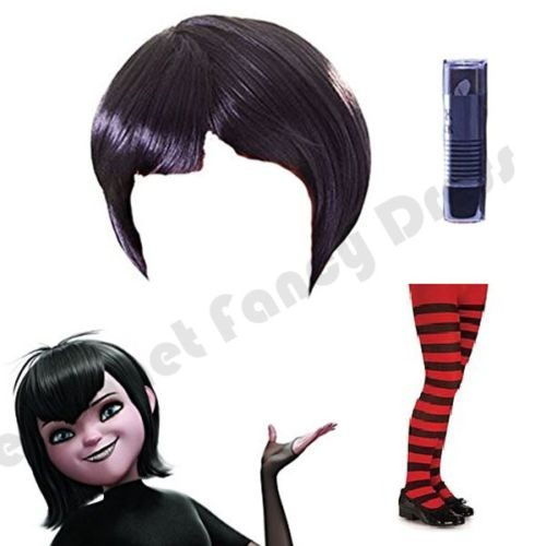 CHILD-GIRLS-MAVIS-HOTEL-TRANSYLVANIA-WIG-LIPSTICK-TIGHTS-HALLOWEEN-FANCY-DRESS