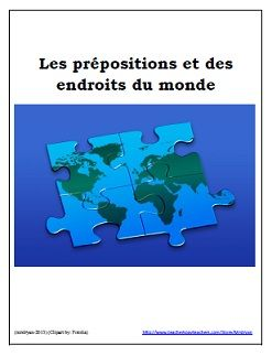"""This product includes a complete the blanks with the correct prepositions or the correct definite articles worksheet including: à, en, au, aux, à l', le, la, les, and l'. They will need to distinguish between using either """"to, at or in"""" in the sentences or """"the or -"""" for meanings. Students get the opportunity to practise identifying whether the country, province, state, territory or continent is feminine, masculine or plural. Cities are also used. An answer key is included."""