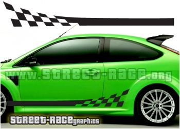 Ford Focus racing stripe graphics from www.street-race.org