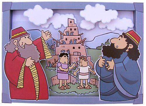 Hier vind je verschillende Bijbelverhalen uitgewerkt. Zo ook de Toren van Babel. Kies voor knippen en plakken met de gekleurde versie. Of laat kinderen ook kleuren door de zwart wit versie te gebruiken!