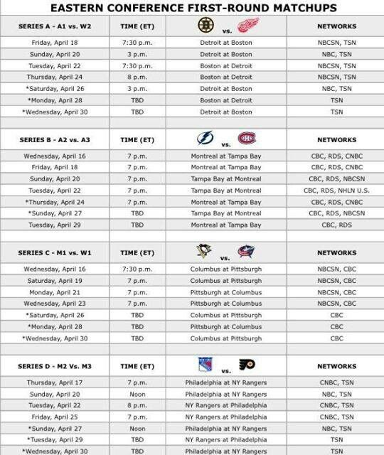 2014 Playoff Schedule