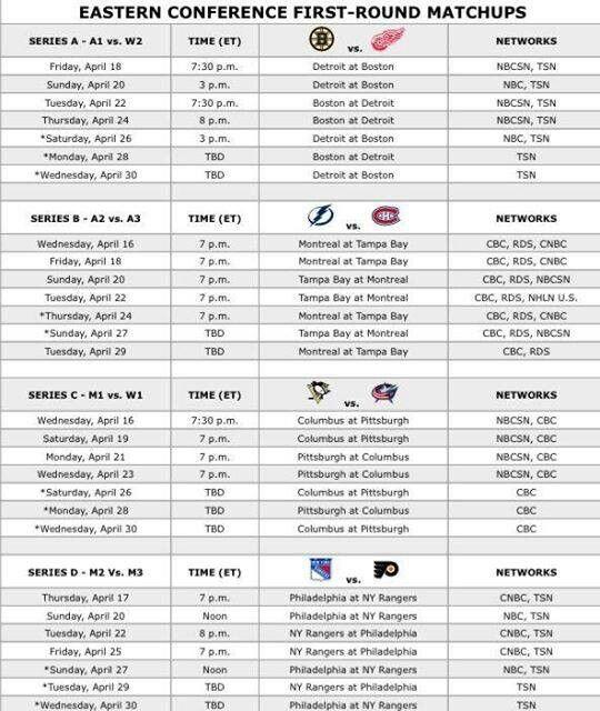 2014 Playoff Schedule