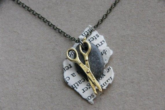 Rock Paper Scissors Necklace (from www.etsy.com) I ADORE THIS!!!! #autism #aspergers #geek #jewellery
