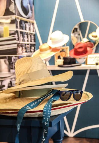 Hats and sunglasses at Stand Pitti Uomo 86