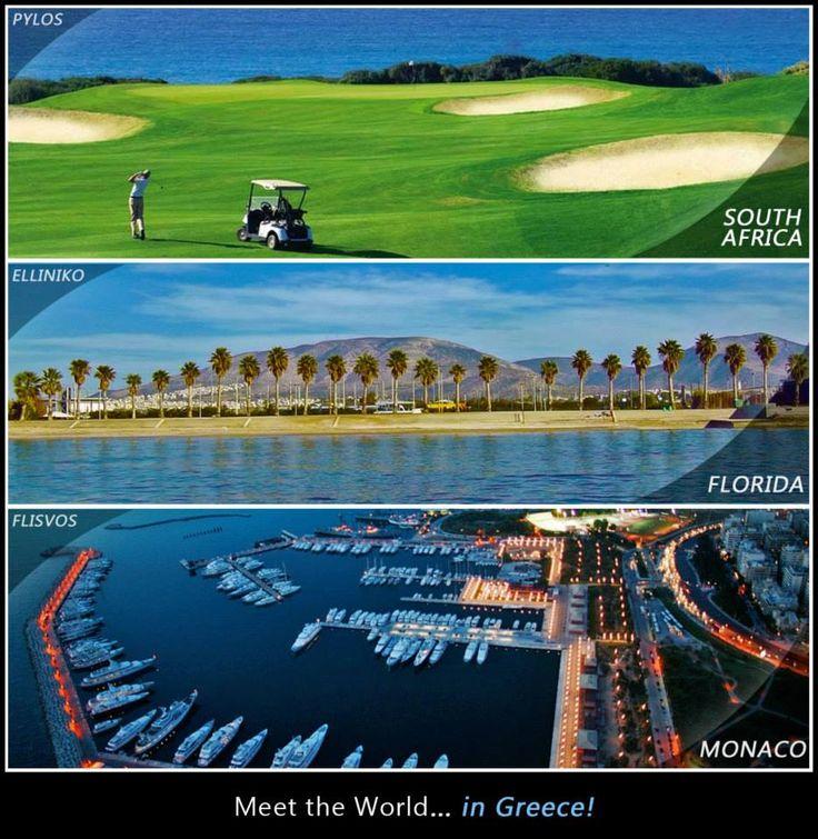 Meet the world in Greece ~ South Africa Florida Monaco