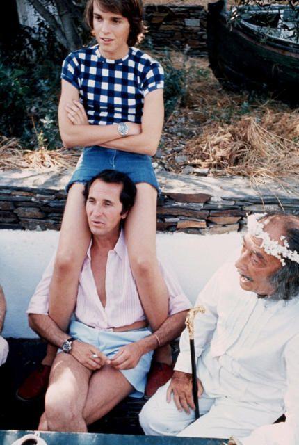 Dalí, Dominguin y Miguel Bosé