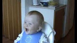 Laughing baby, via YouTube.: Laughing Baby