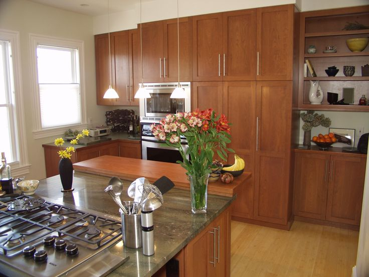 Kitchen cabinets, Stained kitchen cabinets and Cabinets on Pinterest