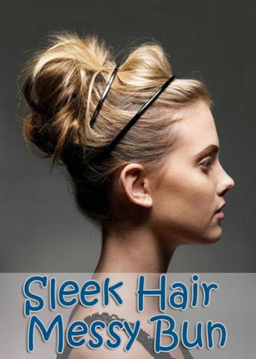 how to make a sleek bun with curly hair
