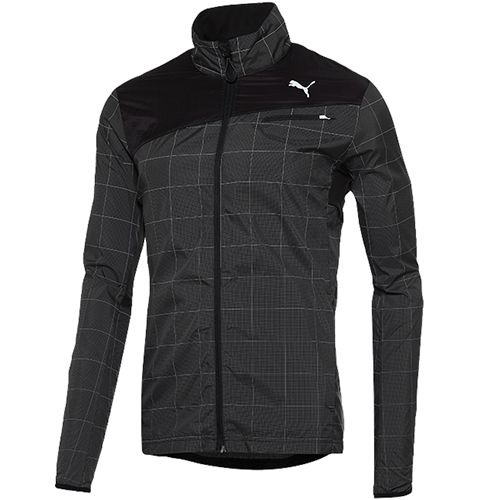 Puma Men's Jacket has a 360-degree reflective grid pattern. #reflectivegear