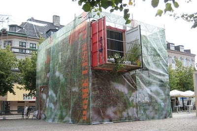 containers for homeless people by Erik Juul