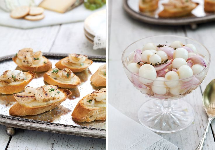 French Onion Crostini & Champagne Pickled Onions
