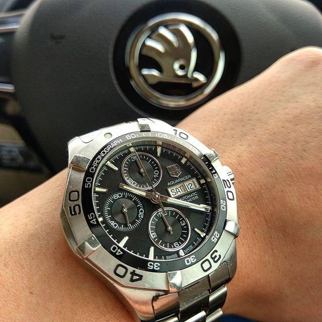 REPOST!!!  A Q U A   ⌚  TAG Heuer Aquaracer Chronograph .  #tag #aquaracer #swissmade #lume #lumeshot #watchphotography #baselworld #tagheuer #diver #chronograph #hodinkee #timeandtide #ticktock  #watches #watchuseekdailywatch #watchuseek #luxurywatch #lu