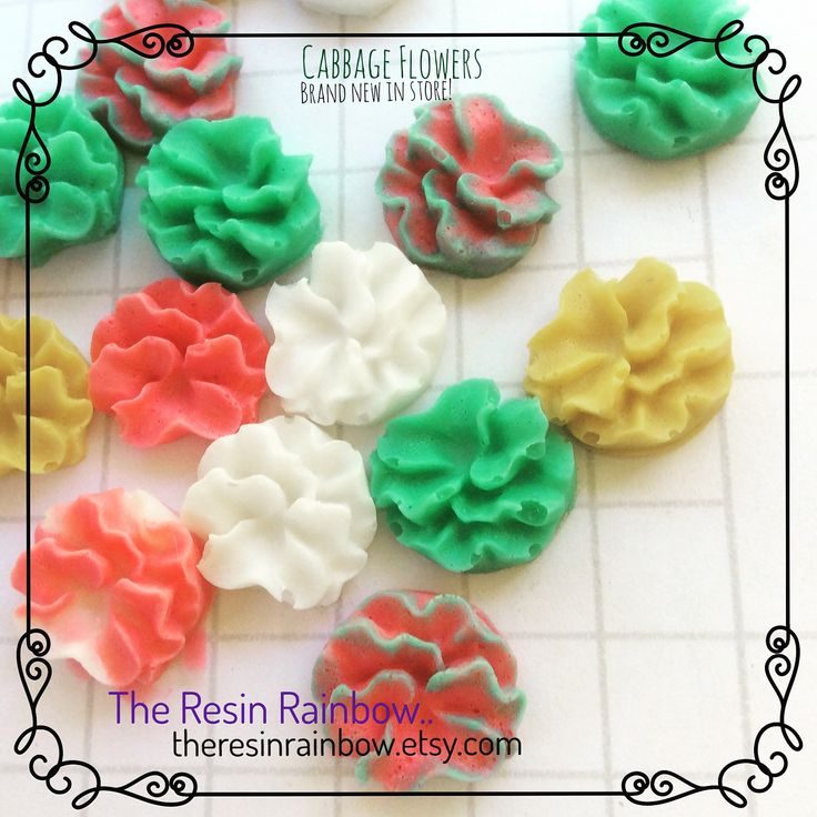 cabbage flower resin craft embellishment, custom made in any colour you need! #theresinrainbow #mixedmedia #collage #scrapbooking #cardmaking #planneraccessories