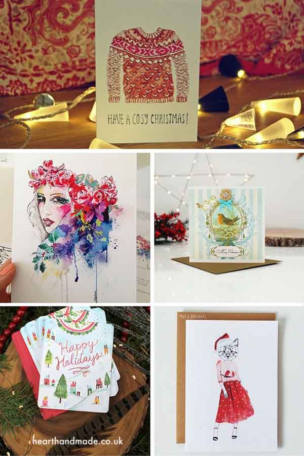 Buying christmas cards - The Best Christmas Cards on Etsy for 2015