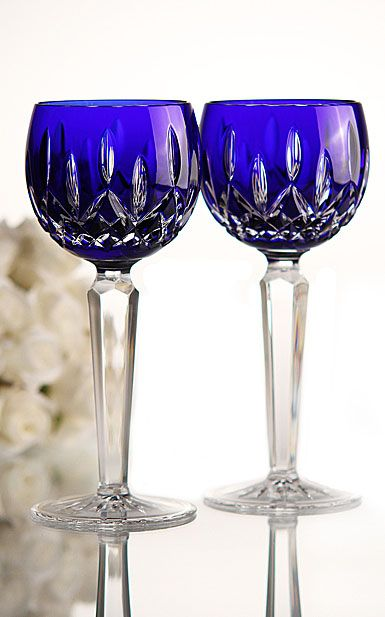 Waterford lismore Cobalt wine | Lismore Cobalt unites classic Lismore design with opulent cased cobalt ...