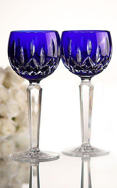 Waterford lismore Cobalt wine   Lismore Cobalt unites classic Lismore design with opulent cased cobalt ...