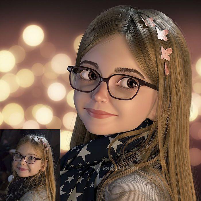 Artista Convierte Personas Reales En Personajes 3d Caricatura De