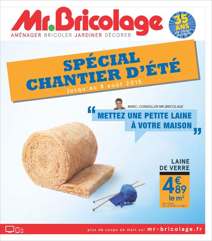 Couvu0027 Catalogue Promo pour Mr Bricolage  Cet Été, mettez une petite - bricolage a la maison