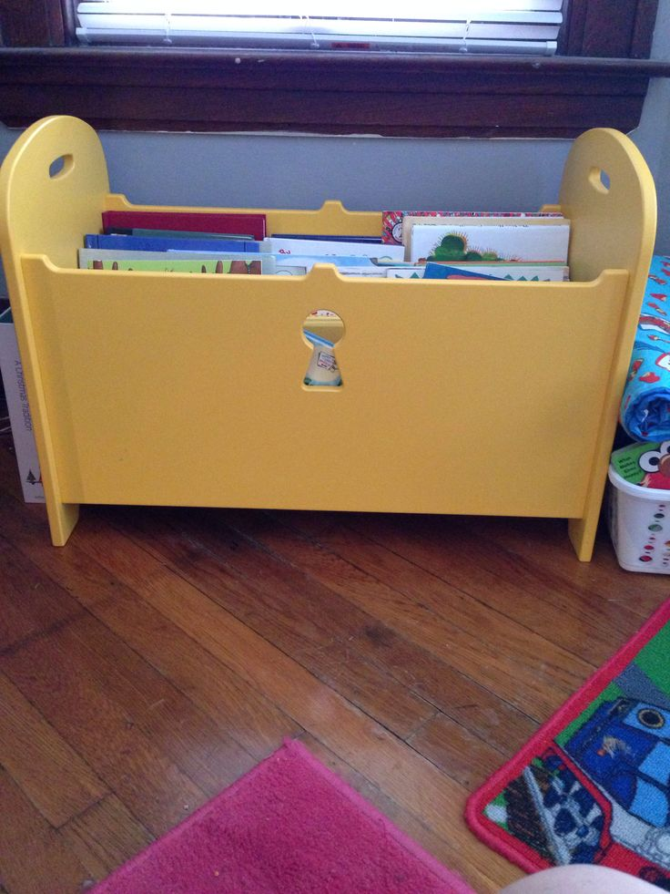 Kids book storage ikea toy chest without lid picked up for Large toy box ikea