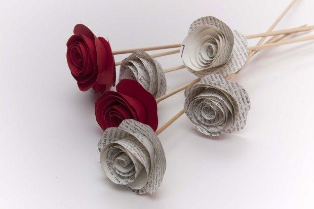 Flores muuuuy sencillas con papel  fuente: cuatrocuartos
