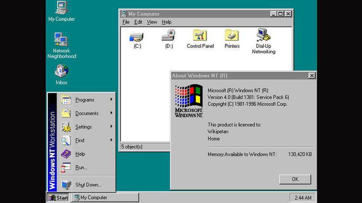 EXAME | Windows NT > 30 anos de Windows: veja como o sistema mudou. Foto 5/13