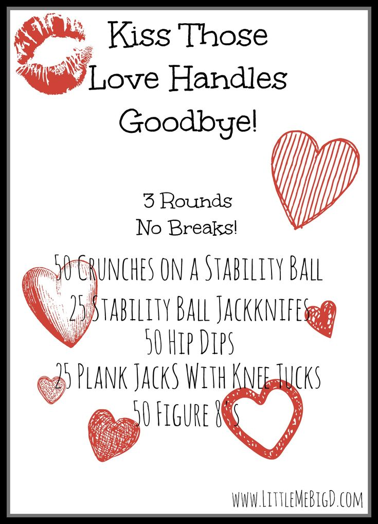 Bye Bye Love Handle Workout for Valentine's Day!