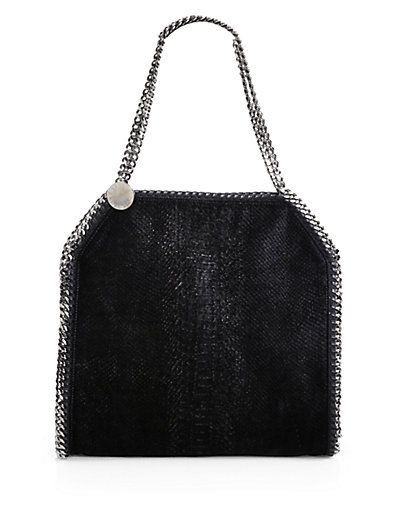 Stella McCartney - Baby Bella Python Embossed Shoulder Bag - Saks.com
