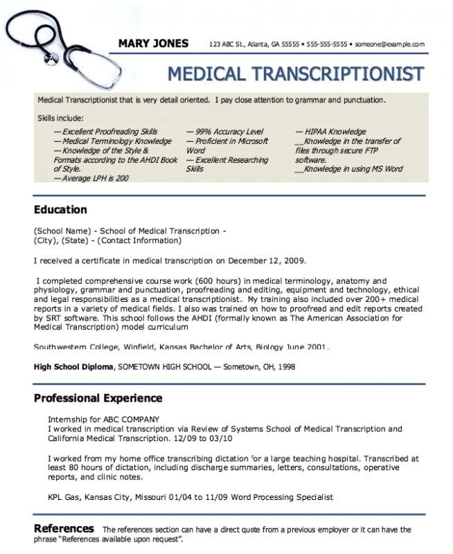 Medical Assistant Resumes Medical Assistant Resume Medical