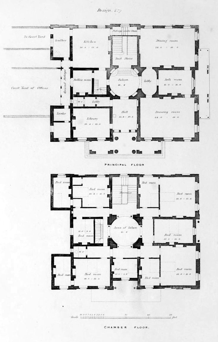 Floor plans for an urban residence england