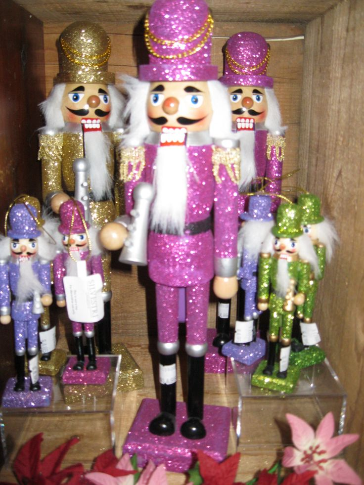 glittered nutcrackers