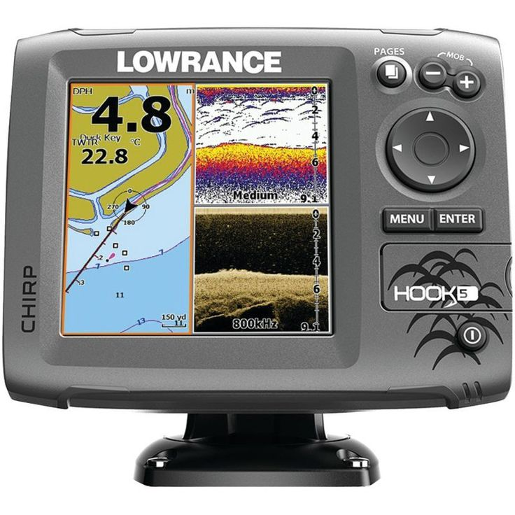 Lowrance Hook5 Fish Finder/Chartplotter Combo, Blue