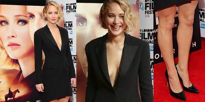Jennifer Lawrence a Londra ha messo da parte lo stile un po' Cenerentola dei vaporosi (e meravigliosi) abiti Dior per un abito costruito a 'giacca da smoking' dallo stile più contemporaneo. http://www.sfilate.it/235346/jennifer-lawrence-anticonvenzionale-chic-in-dior-londra