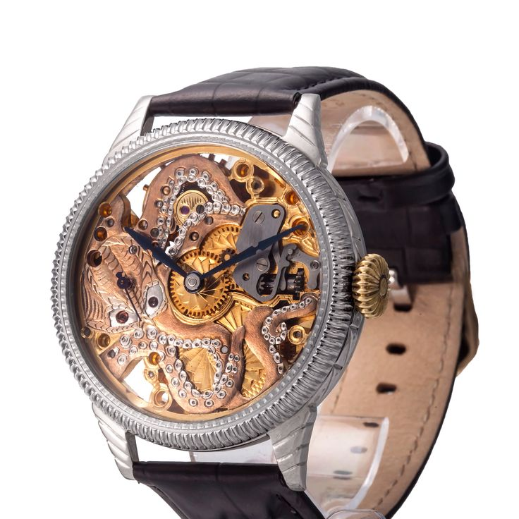Omega mechanism watch with Octopus design #omega #pocketwatch #mechanism #skeleton #wristwatch #watches