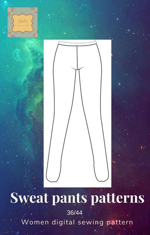 Patrón pantalón chandal A1138121RD | Patrones/ Sewing patterns ...